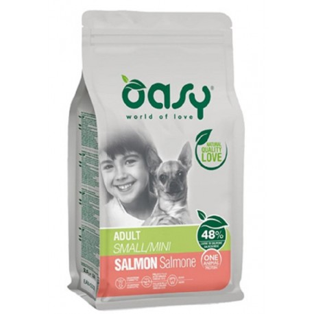 Oasy One Protein Adult Small Mini con Salmone 800 gr Cibo per Cani