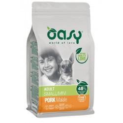 Oasy One Protein Adult Small Mini con Maiale 800 gr Cibo per Cani