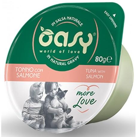 Oasy More Love Green Cup Tonno Con Salmone 80 g