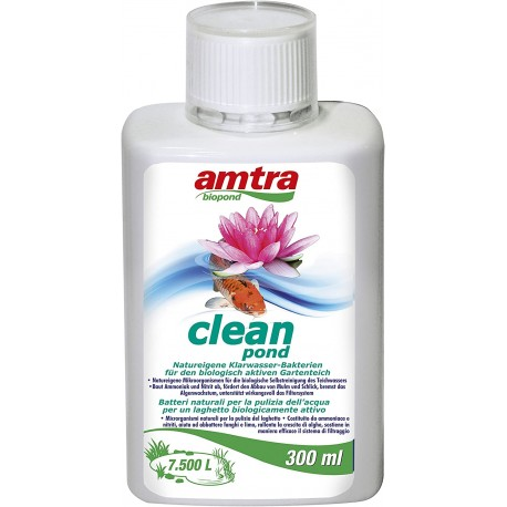 Amtra Biopond Clean 300 ml batteri per laghetto
