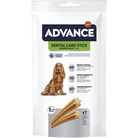 Advance Dental Care 7 Stick 180 gr Medium Maxi Snack Igiene Dentale per Cane