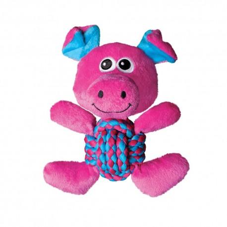 Kong Weave Knots Pig Medium RK12 Gioco Maiale con Corda per Cane