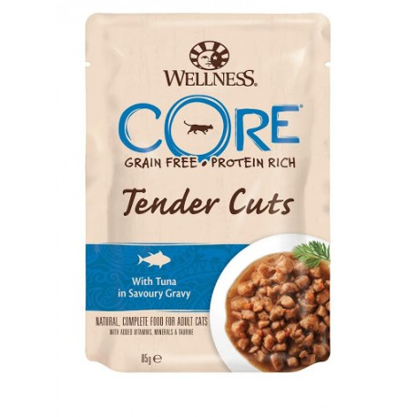 Wellness Core Grain Free Tender Cuts con Tonno 85 gr Cibo per Gatto