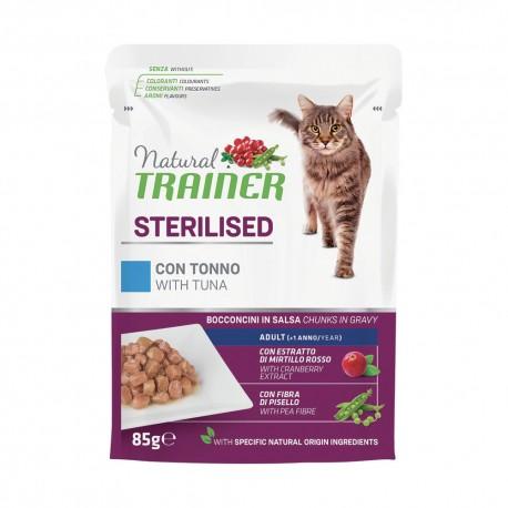 Trainer Natural Cat Sterilised con Tonno Bocconcini per Gatto 85 gr