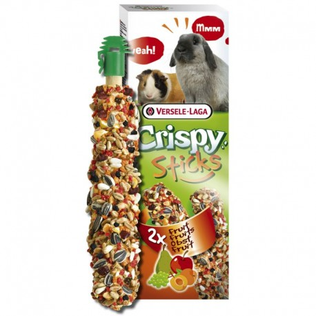 Versele Laga Crispy Sticks alla Frutta 2 x 55 gr Snack per Conigli e Cavie