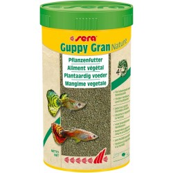 Sera Guppy Gran Nature 100 ml 44g Mangime in Granuli per Pesci Acquario