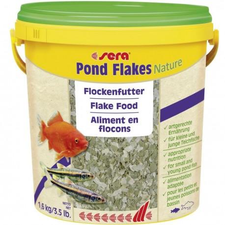 Sera Pond Flakes Nature 10 Litri 1,6Kg Mangime in fiocchi per pesci laghetto