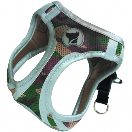 Hiking Pettorina Catarifrangente XS Colore Militare per Cane