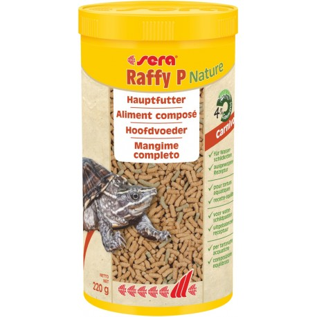 Sera Raffy P Nature 1000 ml 220g Mangime completo in Sticks per Tartarughe