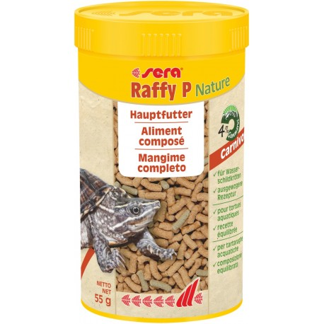 Sera Raffy P Nature 250 ml 55g Mangime completo in Sticks per Tartarughe