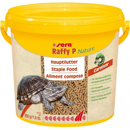 Sera Raffy P Nature 3800 ml 850g Mangime completo in Sticks per Tartarughe
