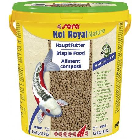 Sera Koi Royal Medium Nature 21 L 5,65 Kg Mangime per Carpe Laghetto