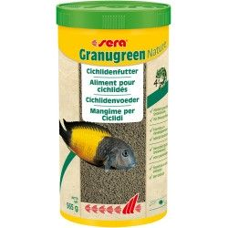 Sera Granugreen Nature 1000 ml 565g Mangime in Granuli per Ciclidi Acquario