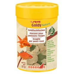 Sera Goldy Nature 100 ml 22g Mangime in Scaglie per Pesci Rossi Acquario