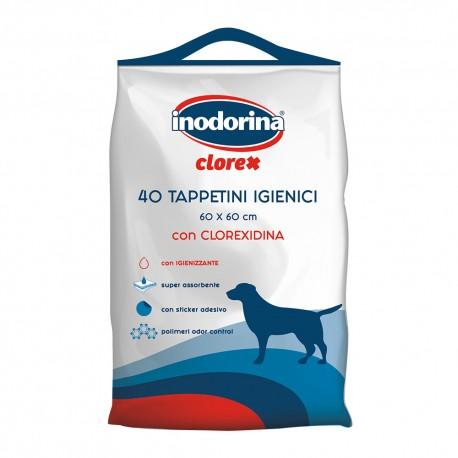 Inodorina Clorex 40 Tappetini 60 x 60 cm con Clorexidina per Cane