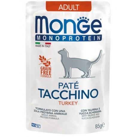Monge Monoprotein in Busta 85 gr Patè Tacchino per Gatto