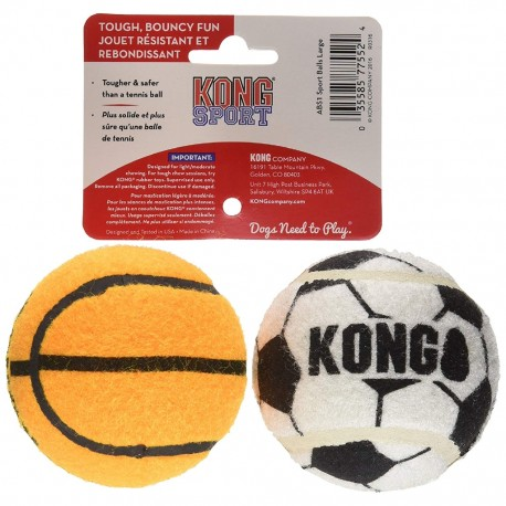 Kong Sport Balls Large ABS1 Gioco due Palle per Cani
