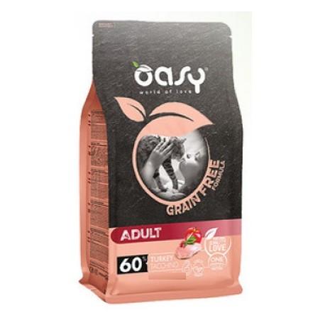 Oasy Grain Free Adult 300 gr gusto Tacchino per Gatti