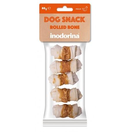 Inodorina Dog Snack Rolled Bone con Pollo 80 gr per Cane