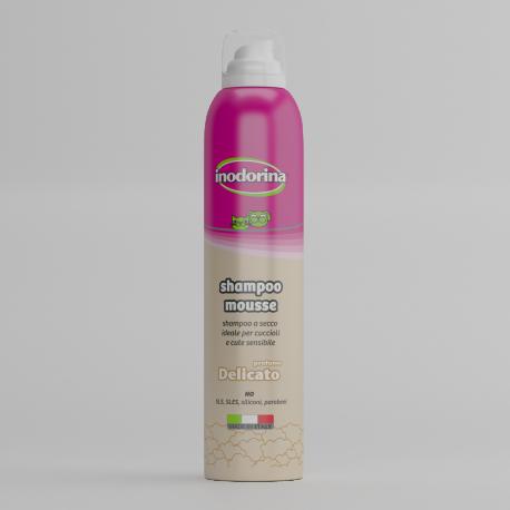Inodorina Shampoo a Secco Mousse Delicato per Cane Gatto 300 ml