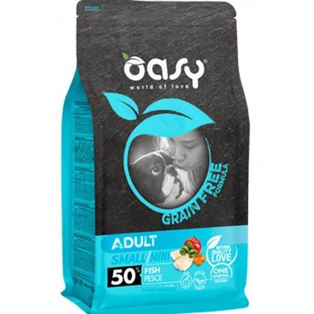 Oasy Grain Free Adult Small/Mini al Pesce 800 gr per Cane