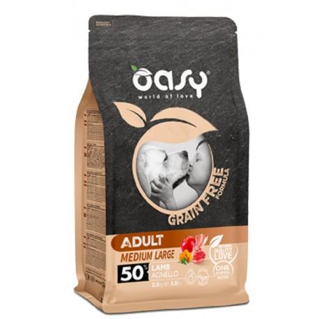 Oasy Grain Free Adult Medium/large Agnello 2,5 Kg per Cane