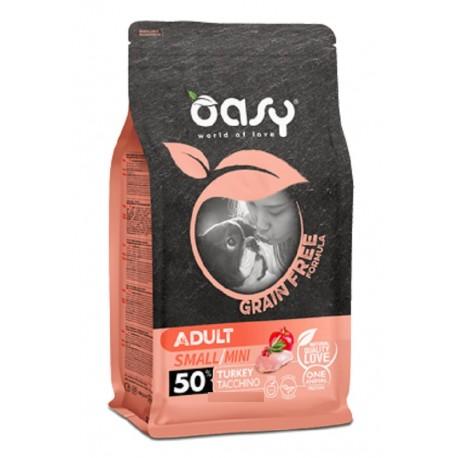 Oasy Grain Free Adult Small/Mini Tacchino 800 gr per Cane