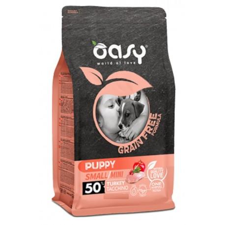 Oasy Grain Free Puppy Small/Mini Tacchino 800gr per Cucciolo