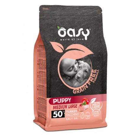 Oasy Grain Free Puppy Medium/large Tacchino 2,5 Kg per Cucciolo