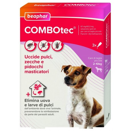 Beaphar Combotec per Cani 2 -10 Kg Antiparassitario Spot On 3 fiale