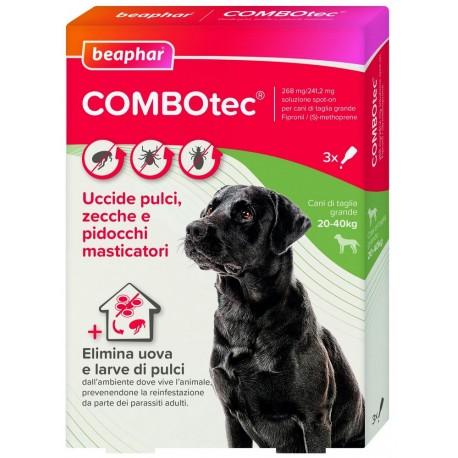 Beaphar Combotec per Cani di taglia grande 20 -40 Kg Antiparassitario Spot On 3 fiale