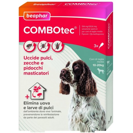 Beaphar Combotec per Cani 10 -20 Kg Antiparassitario Spot On 3 fiale