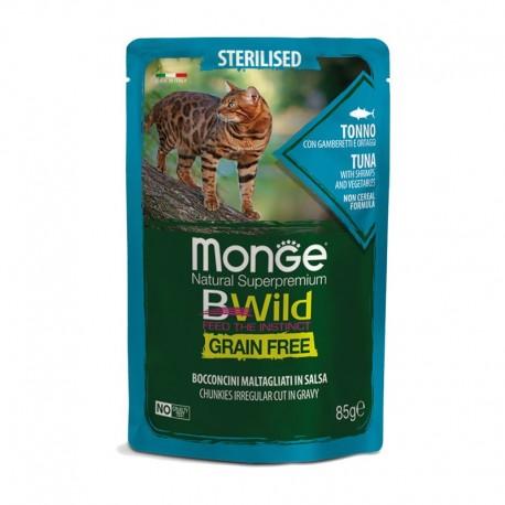Monge BWild Grain Free Tonno 85 gr Busta di Umido per Gatti Sterilizzati