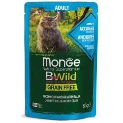 Monge BWild Grain Free Acciughe 85 gr Busta di Umido per Gatti
