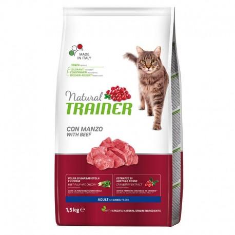 Trainer Natural Adult Cat con manzo Kg 1,5 croccantini gatto