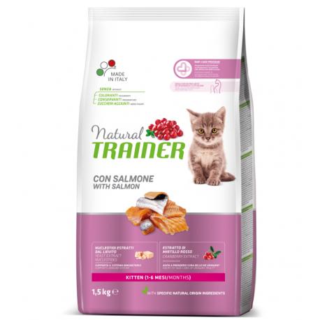 Trainer Natural Kitten con Salmone Kg 1,5 Croccantini per Gatto