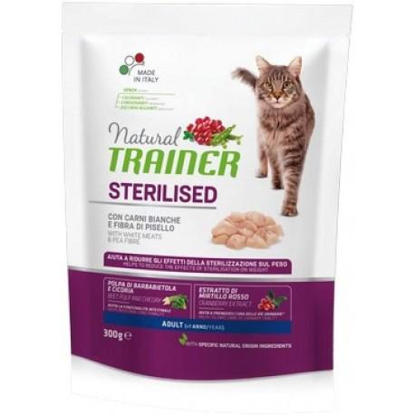 Trainer Natural Adult Sterilised con carni bianche gr300 croccantini gatto