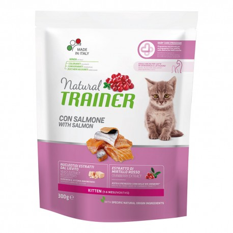 Trainer Natural Kitten Salmone gr 300 Croccantini per gatto