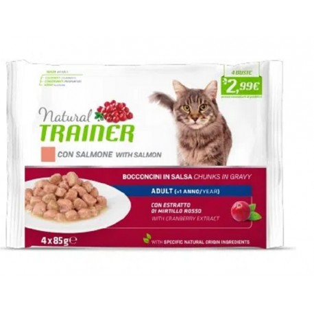 Trainer Natural Umido Gatto Adult Con Salmone 4x85gr