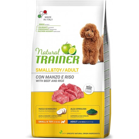 Trainer Natural Adult Small & Toy Manzo, Riso 2 Kg