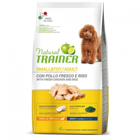 Trainer Natural Adult Small & Toy Pollo e Riso 2 Kg