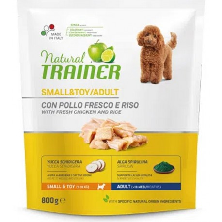 Trainer Natural Adult Small & Toy Pollo e Riso 800 gr