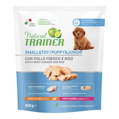 Trainer Natural Puppy & Junior Small & Toy 800g per Cuccioli di Taglia Piccola