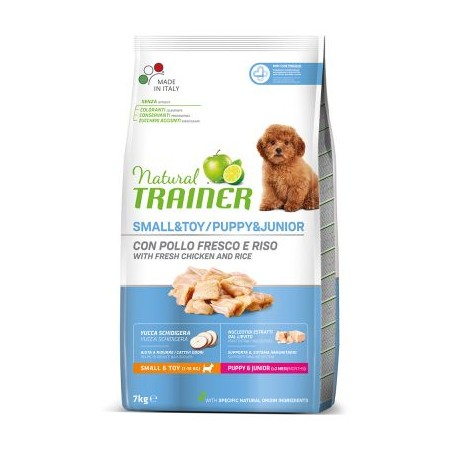 Trainer Natural Puppy & Junior Small & Toy 7 kg per Cuccioli di Taglia Piccola