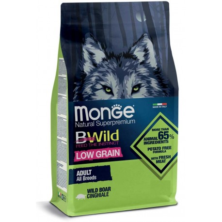 Monge Bwild Low Grain Adult Cinghiale 12 Kg