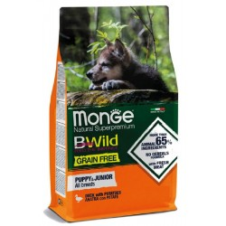 Monge Bwild Grain Free Anatra con Patate Puppy & Junior All Breeds 12 Kg