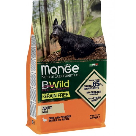 Monge Grain Free Mini Adult con Anatra e Patate 2,5 Kg