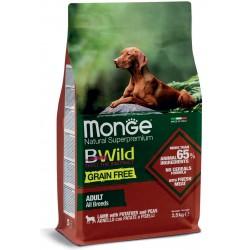 Monge Bwild Grain Free Adult All Breeds Agnello, Patate e Piselli 2,5Kg