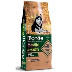 Monge Bwild Grain Free Adult All Breeds Salmone e Piselli 12Kg