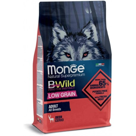 Monge Bwild Low Grain Cervo Adult All Breeds 2,5 kg